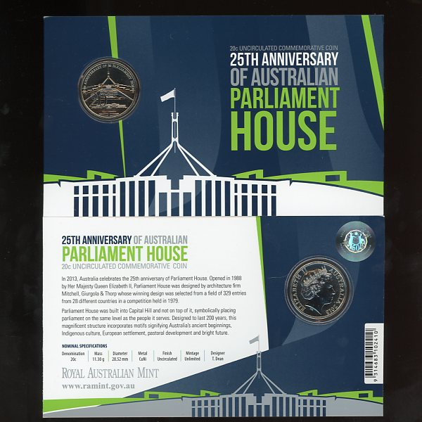 Thumbnail for 2013 25th Anniversary of Australian Parliament House