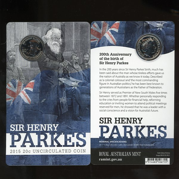 Thumbnail for 2015 Sir Henry Parkes