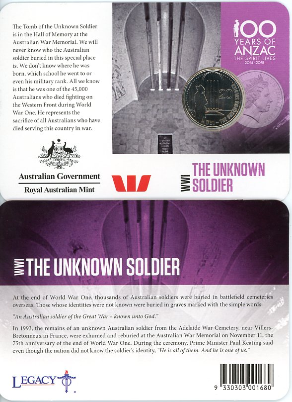 Thumbnail for 2015 Anzacs Remembered - The Unknown Soldier