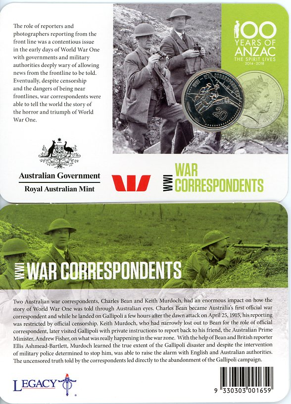 Thumbnail for 2015 Anzacs Remembered - War Correspondents