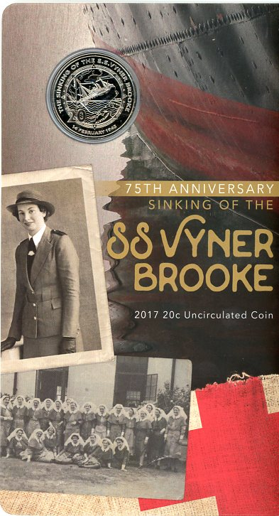 Thumbnail for 2017 75th Anniversary of the Sinking of SS Vyner Brooke 20c Coin