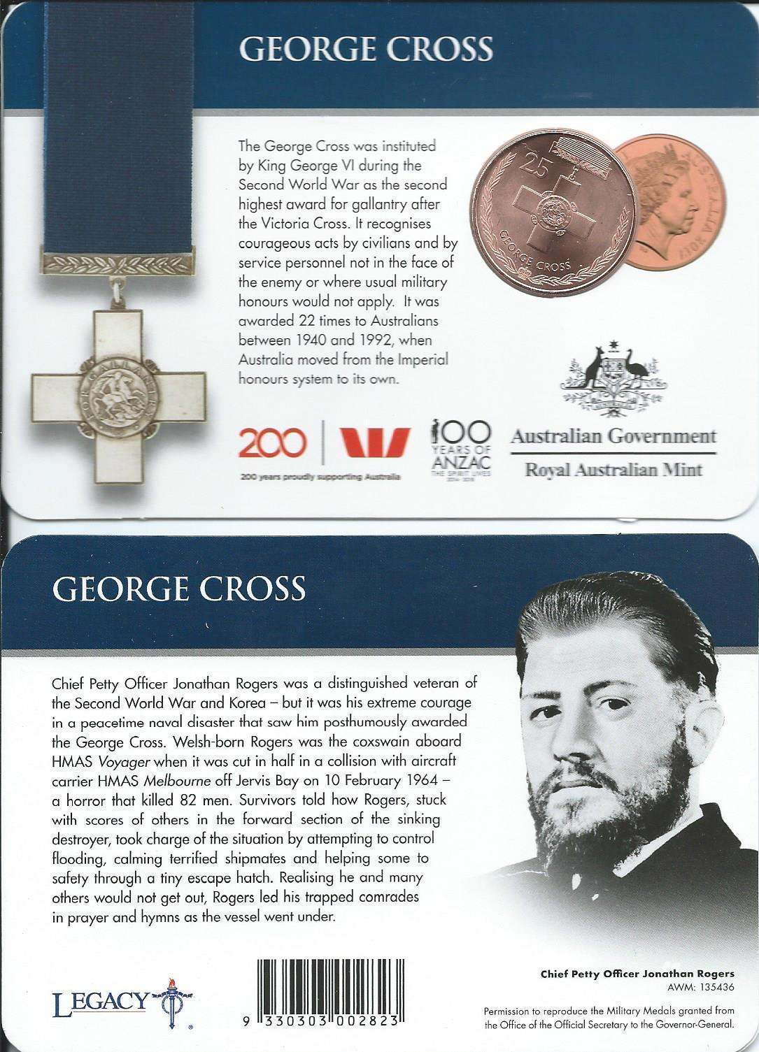 Thumbnail for 2017 Legends of the ANZACS - George Cross