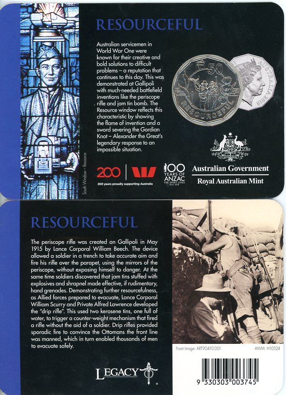 Thumbnail for 2018 Anzac Spirit - Resourceful