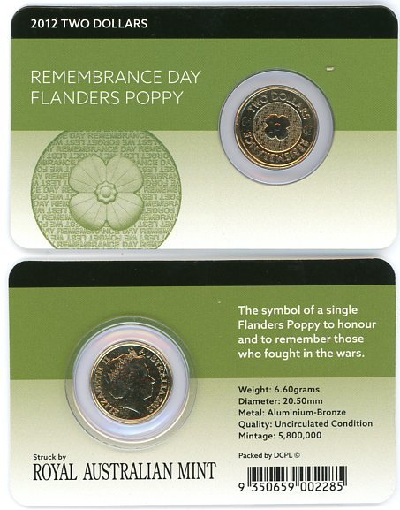 Thumbnail for 2012 $2.00 Remembrance Day - Flanders Poppy