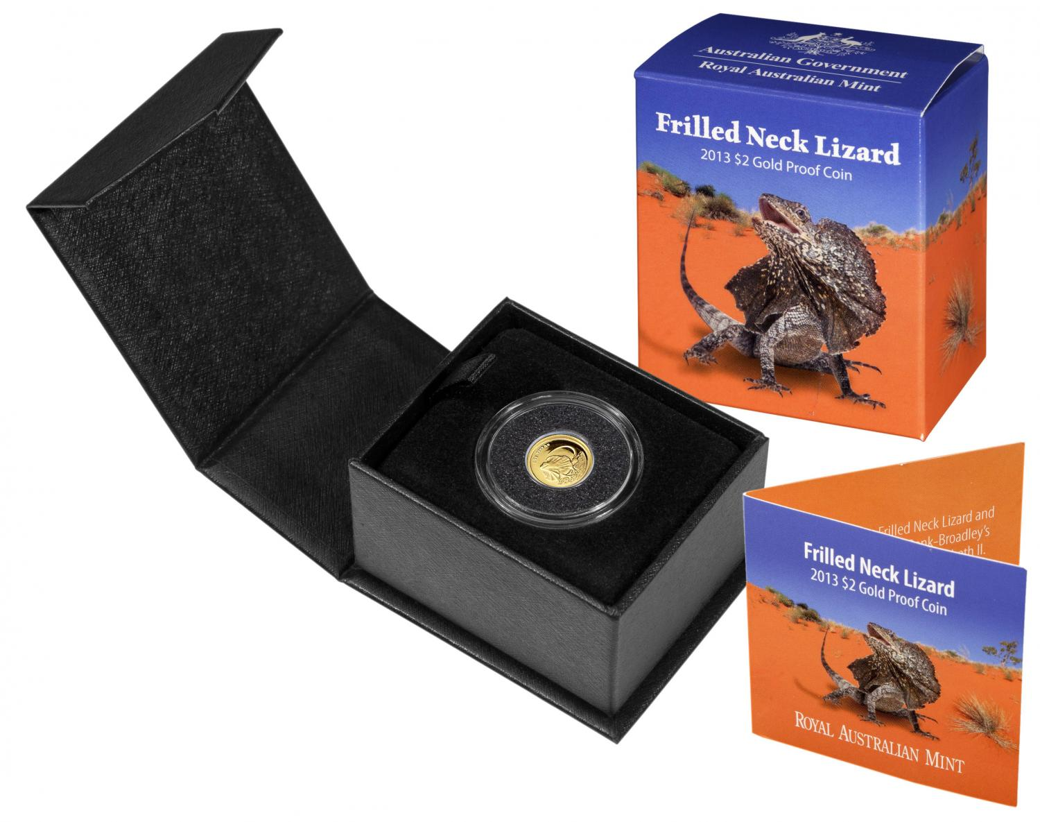 Thumbnail for 2013 Frilled Neck Lizard $2.00 Gold Proof