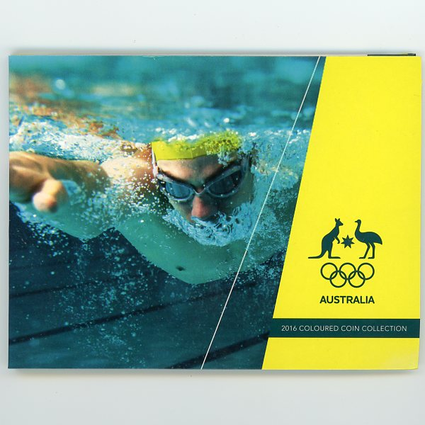Thumbnail for 2016 Olympic Games 5 Coin Set Swimming Cover