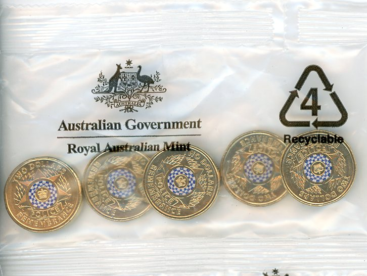 Thumbnail for 2019 Police Remembrance RAM Mint Satchel of 5 UNC
