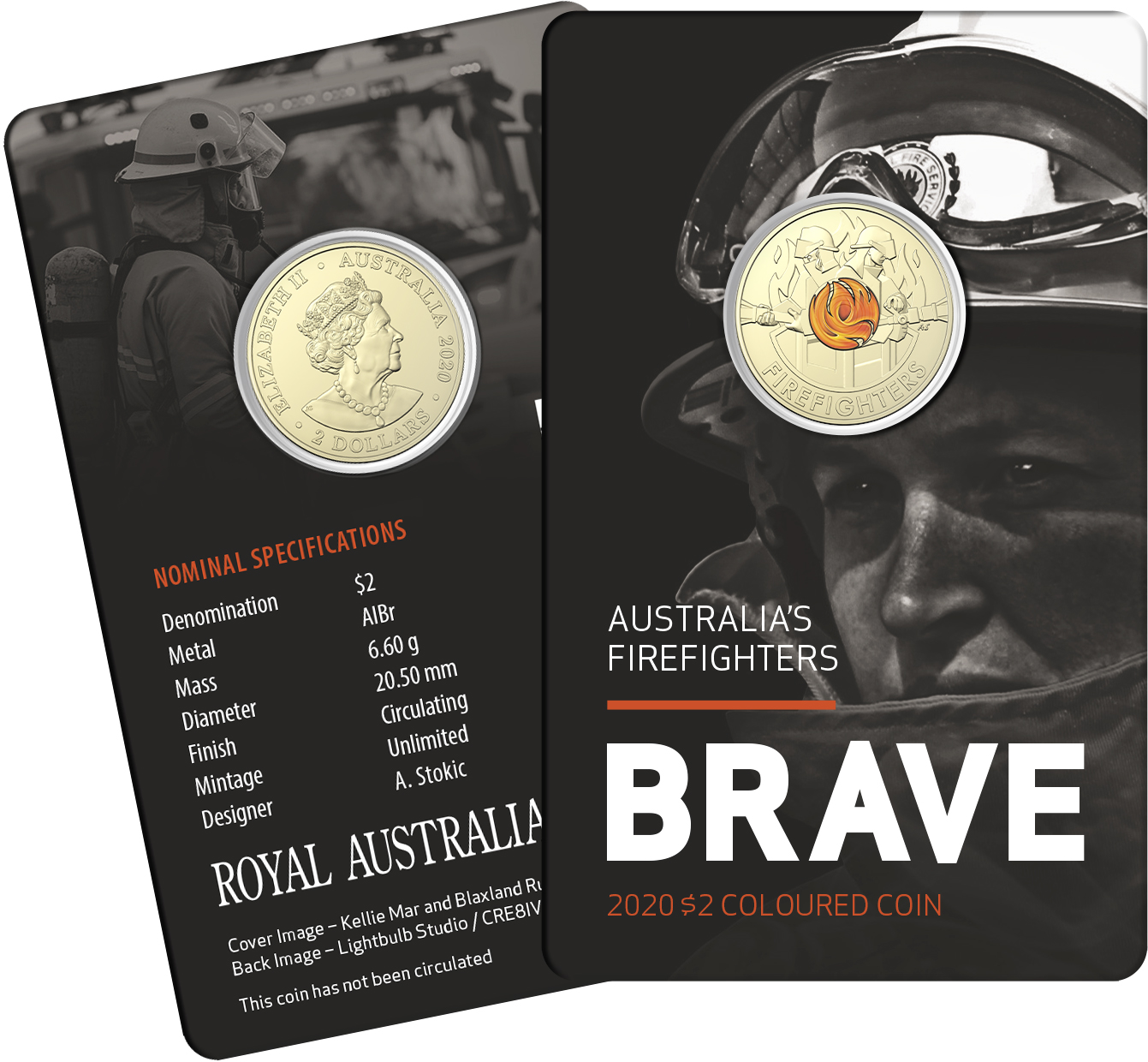 Thumbnail for 2020 $2 Coloured Circulating Coin-in-Card - Australian Firefighters