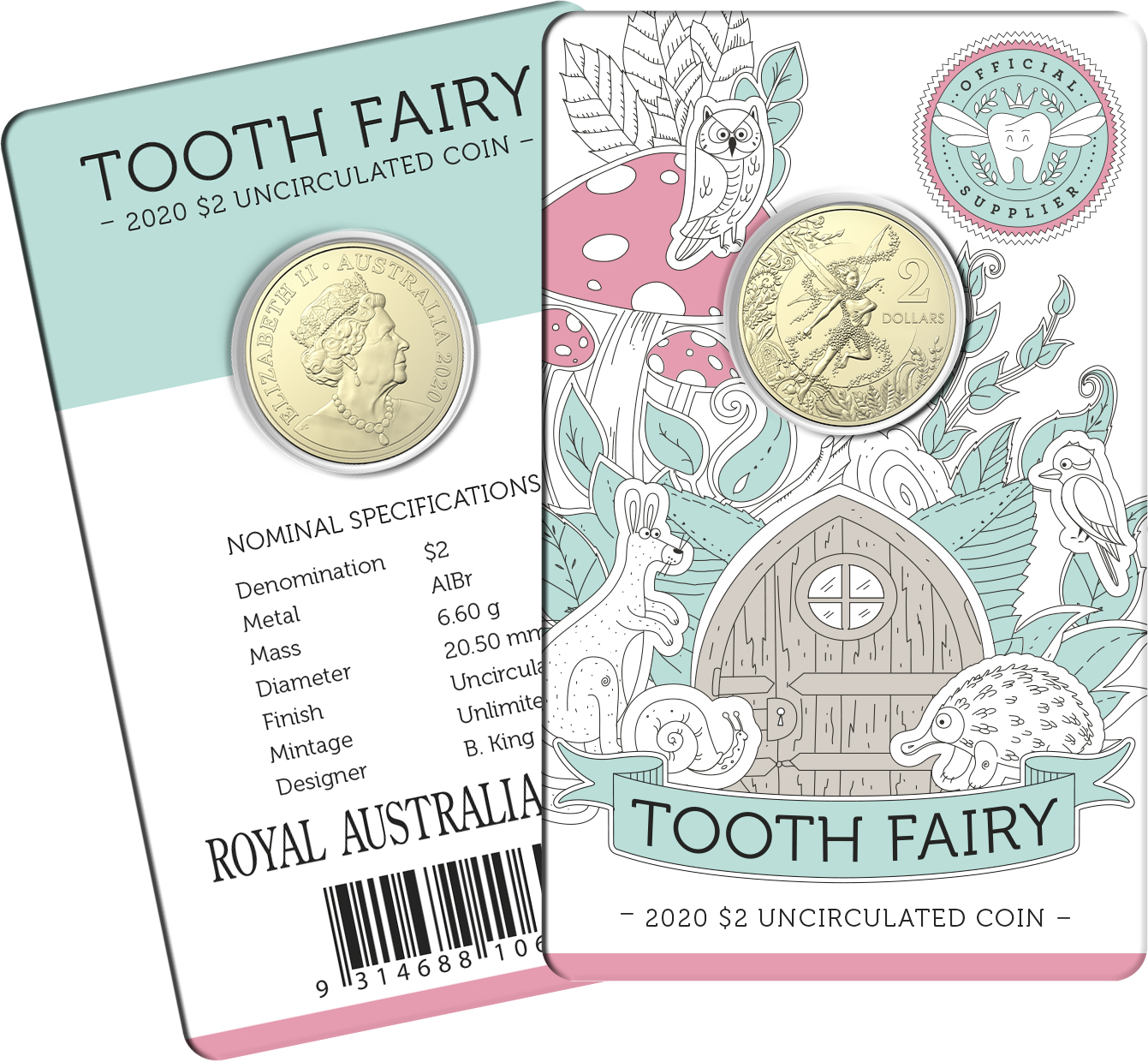 Thumbnail for 2020 $2.00 Tooth Fairy Coin Uncirculated
